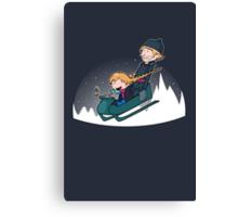 A Snowy Ride Canvas Print
