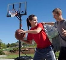 Outdoor basketball hoop by outdoorbasket