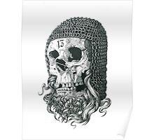 Templar Skull Poster