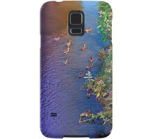 Ducks on patrol | waterscape photography Samsung Galaxy Case/Skin