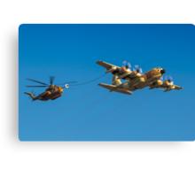 Hercules C-130 transport plane refuelling Canvas Print