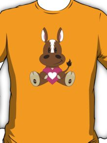 Cute Cartoon Valentine Horse T-Shirt