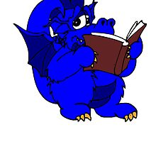 Blue Dragon Reading by kwg2200