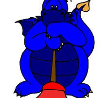 Blue Plumber Dragon by kwg2200