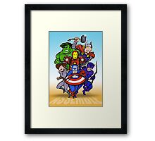 Mighty Heroes Framed Print
