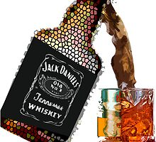 Jack Daniels mixed art by dno123