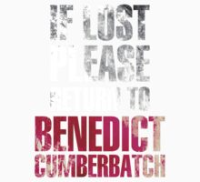 If lost please return to Benedict Cumberbatch (dark) by NavyDream