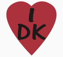I Love Denmark Country Code DK T-Shirt & Sticker by deanworld