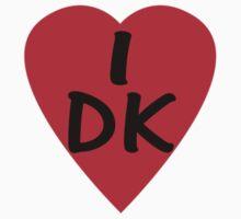 I Love Denmark Country Code DK T-Shirt & Sticker by deanworld