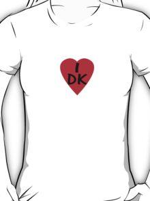 I Love Denmark Country Code DK T-Shirt & Sticker T-Shirt