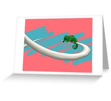 Lizard on a Tusk - Hanging in There Greeting Card