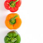 traffic light peppers by Michelle McMahon