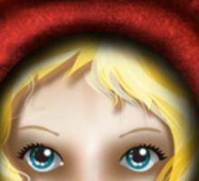 Whimsical Fox Girl Sticker