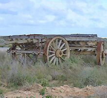 Timber Wagon Nullarbor ,Nullarbor Plains S.A. by Virginia  McGowan