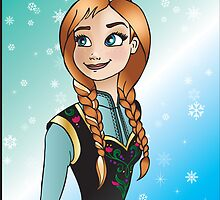Disney Princesses - Anna by Lauren Eldridge-Murray
