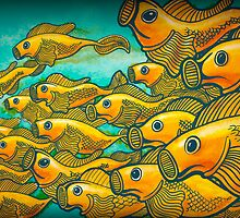 Golden Fishies by artofmiggy