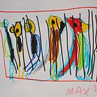 Painting by Max aged 4 by Ronald Rockman