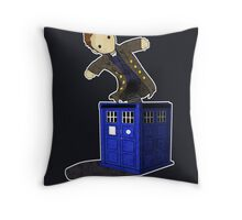 Jack in the Blue Box Throw Pillow