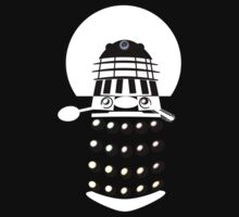 Dr. Who 2-Tone Abstract Dalek Tshirt (Negative) by Ged J