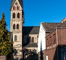 St. Lambertus Church in the condemned village of Immerath, Germany. by David A. L. Davies