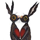 VALENTINES HARES IN LOVE by Hares & Critters