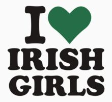 I love irish girls heart by Designzz