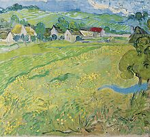 View of Vessenots Near Auvers by Vincent Van Gogh by TilenHrovatic