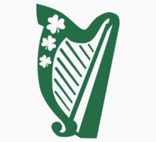 Irish shamrock harp Kids Clothes