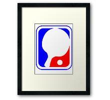 Ping Pong League Logo Framed Print