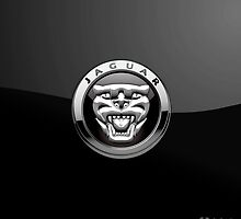 Jaguar new 3D Badge-Logo on Black by Captain7