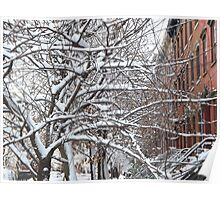 Jersey City, New Jersey, Wet Snow View Poster