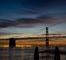 Bay Bridge Moon by tmbolle