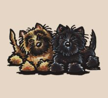 Two Cairn Terriers by offleashart