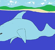 Dolphin(imaginary) -(050214)- Digital artwork/MS Paint by paulramnora