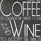 Coffee to Wine Chalkboard Art by geekchicprints