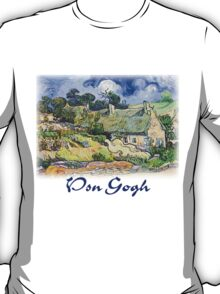 Vincent Van Gogh - Cottages with Thatched Roofs T-Shirt