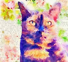 Tortie Mash Mixed Media by VeryUnique