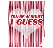 You're Alright Poster