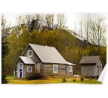 Wlderness home Alaska Poster