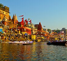 Boating on the Ganges by raymona pooler