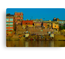 Relections in the Ganges   Canvas Print
