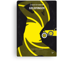 No277-007 My Goldfinger minimal movie poster Canvas Print