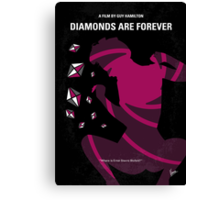 No277-007 My Diamonds Are Forever minimal movie poster Canvas Print