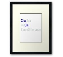 ChaiChi3 Same Diff Framed Print