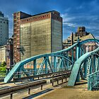 Historic swing bridge, Krefeld, Germany. by David A. L. Davies