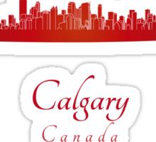 Calgary skyline in red Sticker