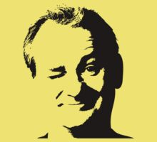 Awesome Black and White Bill Murray Winking T-Shirt by Albany Retro