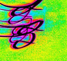 Little Multicoloured Bird- Unique Abstract Art by Vincent J. Newman
