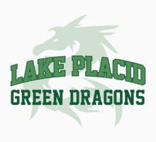 Awesome Lake Placid Green Dragons Sports T-Shirt by Albany Retro