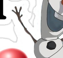 I love Olaf Sticker